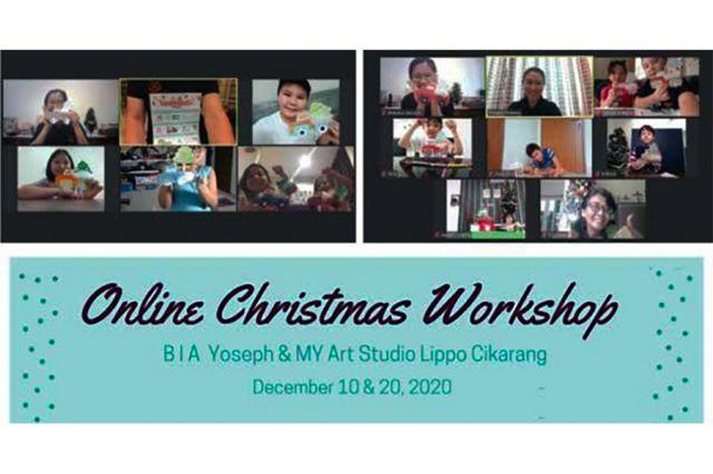 Online Christmas Workshop - BIA Yoseph & MY Art Studio Lippo Cikarang